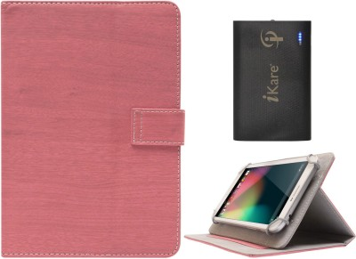 DMG Protective 7in Flip Book Cover Case for Ambrane A 707 7 inch and 6600 mAh Three USB Port Power Bank Combo Set available at Flipkart for Rs.1199