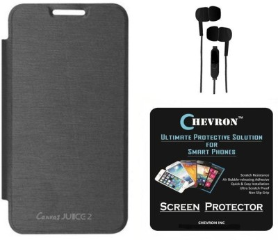 huge selection of 85082 7e3a6 Chevron Flip Cover Case for Micromax Canvas Juice 2 AQ5001 with HD ...