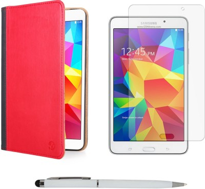 Vangoddy Mary Portfolio Multi Purpose Book Style Slim Flip Case for Samsung Galaxy Tab4 T330/T331 8.0 , Ball Pen Stylus and Matte Screen Combo Set available at Flipkart for Rs.1499