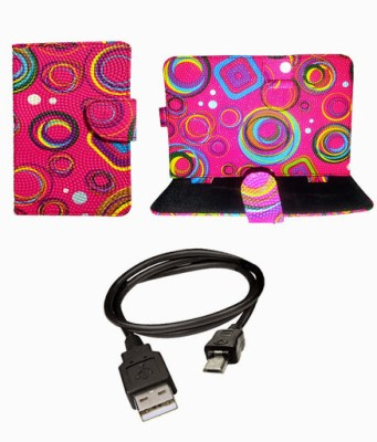 My Dress My Style 7 Inch Smart & Fancy Flip Case/Tablet Cover for Videocon vt85c Combo Set available at Flipkart for Rs.299