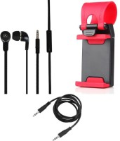 CELLMATE Headphone Mobile Holder For Apple IPhone 6 Accessory Combo (Multicolor)