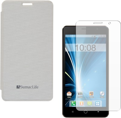 buy online 587a0 ab8b3 SumacLife Premium Flip Cover Case for Intex Aqua Star 5.0 , Matte ...