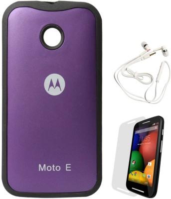 promo code 1e389 48a2e DMG TPU Back Cover for Motorola Moto E (Purple) + White Earphones + ...