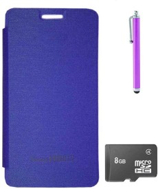 TBZ Flip Cover Case for Micromax Canvas Knight 2 E471 with Stylus and 8GB MicroSD Combo Set