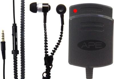 APE Charger and Zipper Handsfreefor Adcom Thunder A-350i Combo Set