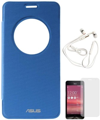 DMG Circle Window Flip Book Cover Case for Asus Zenfone 5 Royal Blue, White Earphones, Matte Screen Combo Set Blue available at Flipkart for Rs.1394