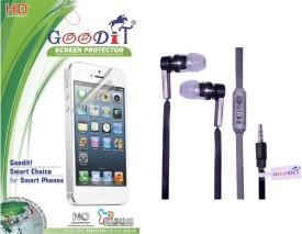 GooDiT Handsfree with Clear Screen Guard For Panasonic Eluga A Combo Set
