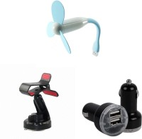 Bigkik USB Fan,Car Holder And Car Charger Combo Set