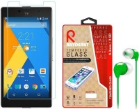 Raydenhy Tempered Glass For Micromax YU Yuphoria With Colorful Earphone Accessory Combo (Multicolor)