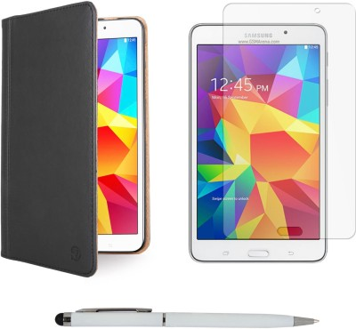 Vangoddy Mary Portfolio Multi Purpose Book Style Slim Flip Case for Samsung Galaxy Tab4 T330/T331 8.0 , Ball Pen Stylus and Matte Screen Combo Set available at Flipkart for Rs.1349