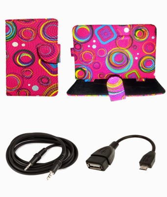 My Dress My Style 7 Inch Smart & Fancy Flip Case/Tablet Cover for Videocon vt85c Combo Set available at Flipkart for Rs.349