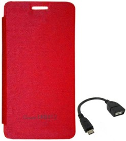 TBZ Flip Cover Case for Micromax Canvas Knight 2 E471 with OTG Cable Combo Set