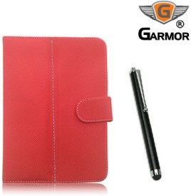 Garmor 100353 Flip Cover for Lenovo Idea Tab A3000 with Stylus Pen Combo Set
