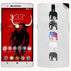 Theskinmantra Ele colours OnePlus One Mobile Skin