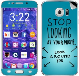 Theskinmantra Stop looking at Your Phone skins Samsung Galaxy S6 Edge Plus Mobile Skin