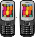 UNI 1.8 Inch Dual Sim Multimedia Set Of Two Mobile (N21) WITH Bluetooth-black (Black)