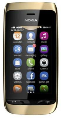 Nokia Asha 308 Golden Light