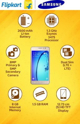 Samsung Galaxy On5 (Gold, 8 GB)