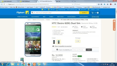 HTC 620g (White, 8 GB)