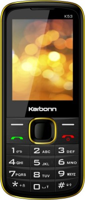 Buy Karbonn K53 (Black & Yellow) at 28% discount @ 999 (Buy Karbonn mobie under Rs.1000 ) at Flipkart, Valid till 7 Sept 2014, 11:59AM
