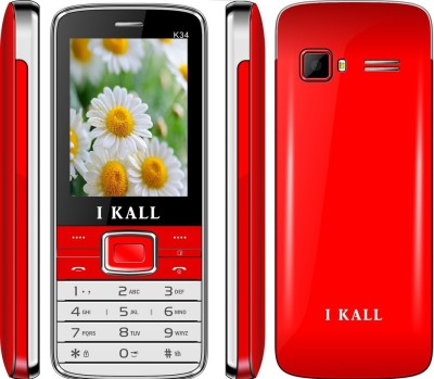 I KALL k-34 dual sim mobile with torch light-Red (2.4 inch) (Red)