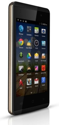 Micromax Canvas Fire A093 (Black & Gold, 4 GB)