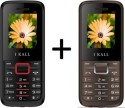 I KALL K-88 Set Of 2 Dual SIM Multimedia Mobiles (Grey, Black & Red)