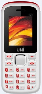 UNI 1.8 Inch Dual Sim Mobile (White, Red)