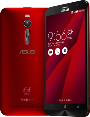Asus Zenfone 2(Red, With 2 GB RAM,With HD Display, With 16 GB) Rs 12,999 Only