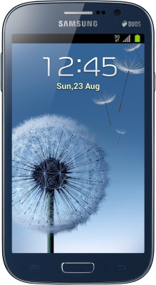 Samsung Galaxy Grand Duos I9082 Metallic Blue, with 2 Flip Covers Color: White and Blue