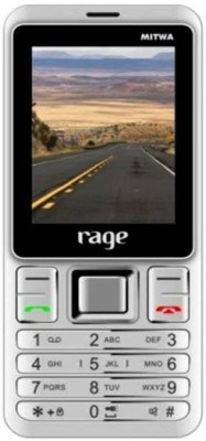 Rage With Power Bank Feature (White, Silver)