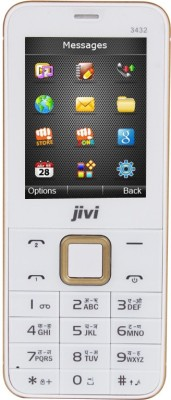 Jivi JFP3432 Full Multimedia Phone (White+Gold)