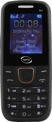 Infix Infix N1 Dual Sim Multimedia with Auto Call Record-Black (Black)