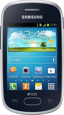 Samsung Galaxy Star S5282 Noble Black, 4  GB available at Flipkart for Rs.4849