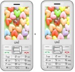 UNI 2.8 Inch Dual Sim Multimedia set of two Mobile with Bluetooth White