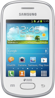 Samsung Galaxy Star S5282 Ceramic White, 4  GB available at Flipkart for Rs.3490
