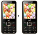 UNI 2.8 Inch Dual Sim Multimedia Set Of Two (N-28) Mobile WITH BLUETOOTH-Black (Black)