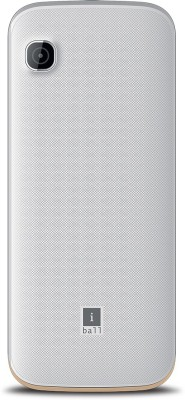 iBall Supremo Big 2.4D Dual Sim (White, Gold)