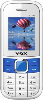 Vox V3100 TRIPLE SIM 1.8Inch Mobile with Bluetooth (White)