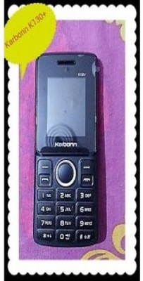 Karbonn K130+ Dual Sim With Torch (Black+Red) (Black & Red)
