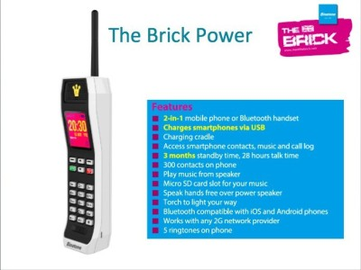 Binatone The Brick Power Edition / The Brick XL Phone (White)