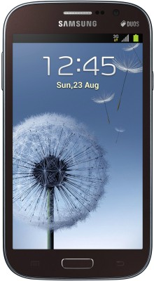 Samsung Galaxy Grand Duos I9082 Luxury Brown, with 2 Flip Covers Color: White and Blue
