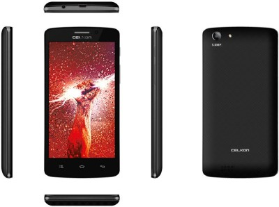 Celkon Millennia Q5K Power Black (Black, 4 GB)