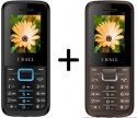 IBall K-88 Set Of 2 Dual SIM Multimedia Mobiles (Grey, Black & Blue)