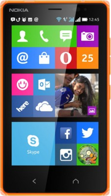 Nokia X2 Dual SIM (Bright Orange, 4 GB)