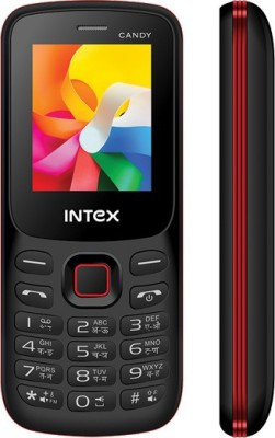 Intex Mobile Candy (Black,Red)