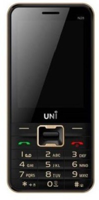 UNI 2.8 Inch Dual Sim Mobile (Black, Golden)