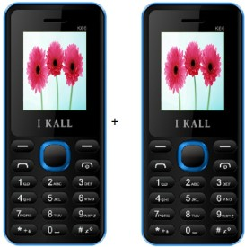 I KALL 1.8 Inch Dual Sim Multimedia Set Of Two Mobile(K-66) With Bluetooth-Blue (Blue, Black)