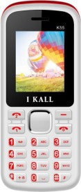 I KALL K55 1.8 Inch Dual Sim Mobile With Bluetooth (White & Red)