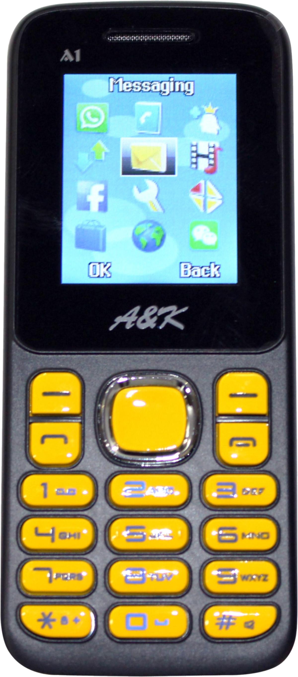 A & K Bar Phone A 1 Black, Yellow